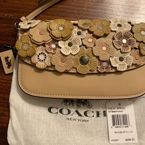 Coach Tea Rose Clutch NWT!